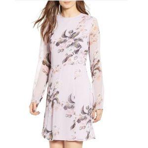 Leith Lavender Frost Floral Dress